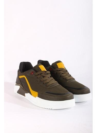 Rodrigo Erkek Beyaz Rahat Tabanlı Sneaker Ayakkabı Haki